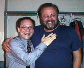 Wayne Powers and Paul Sorvino backstage.  Raleigh, NC.  1/05
